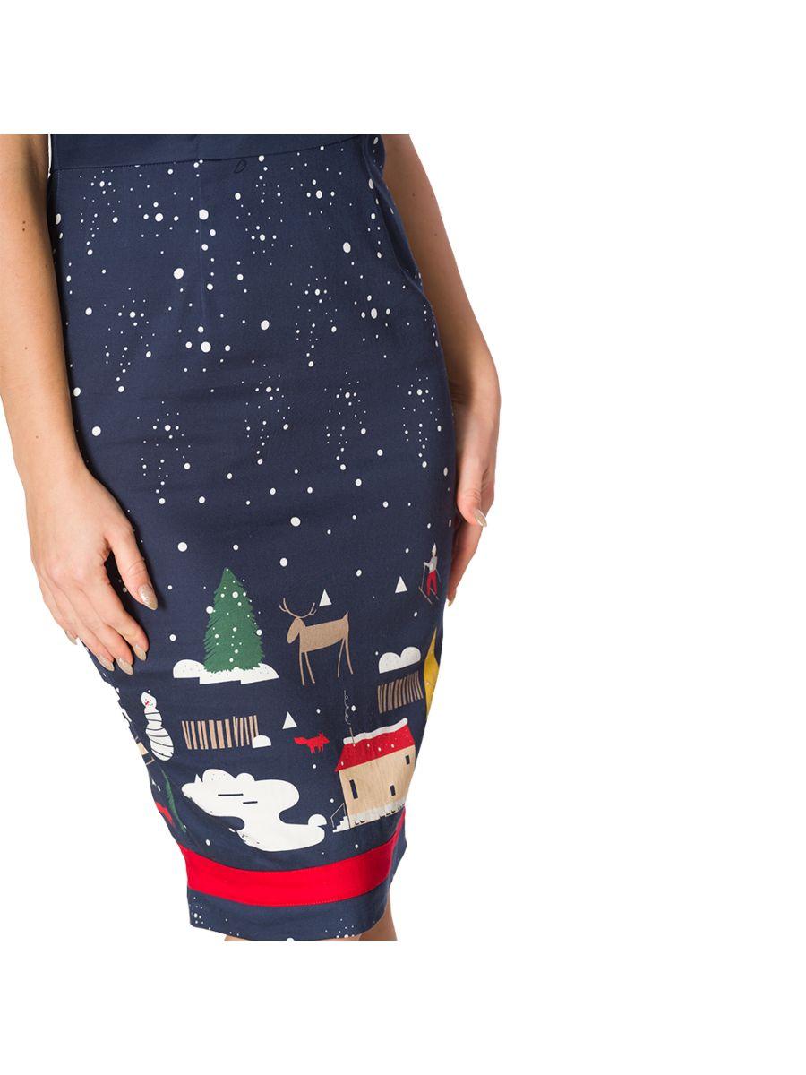 CHRISTMAS TOWN PENCIL DRESS