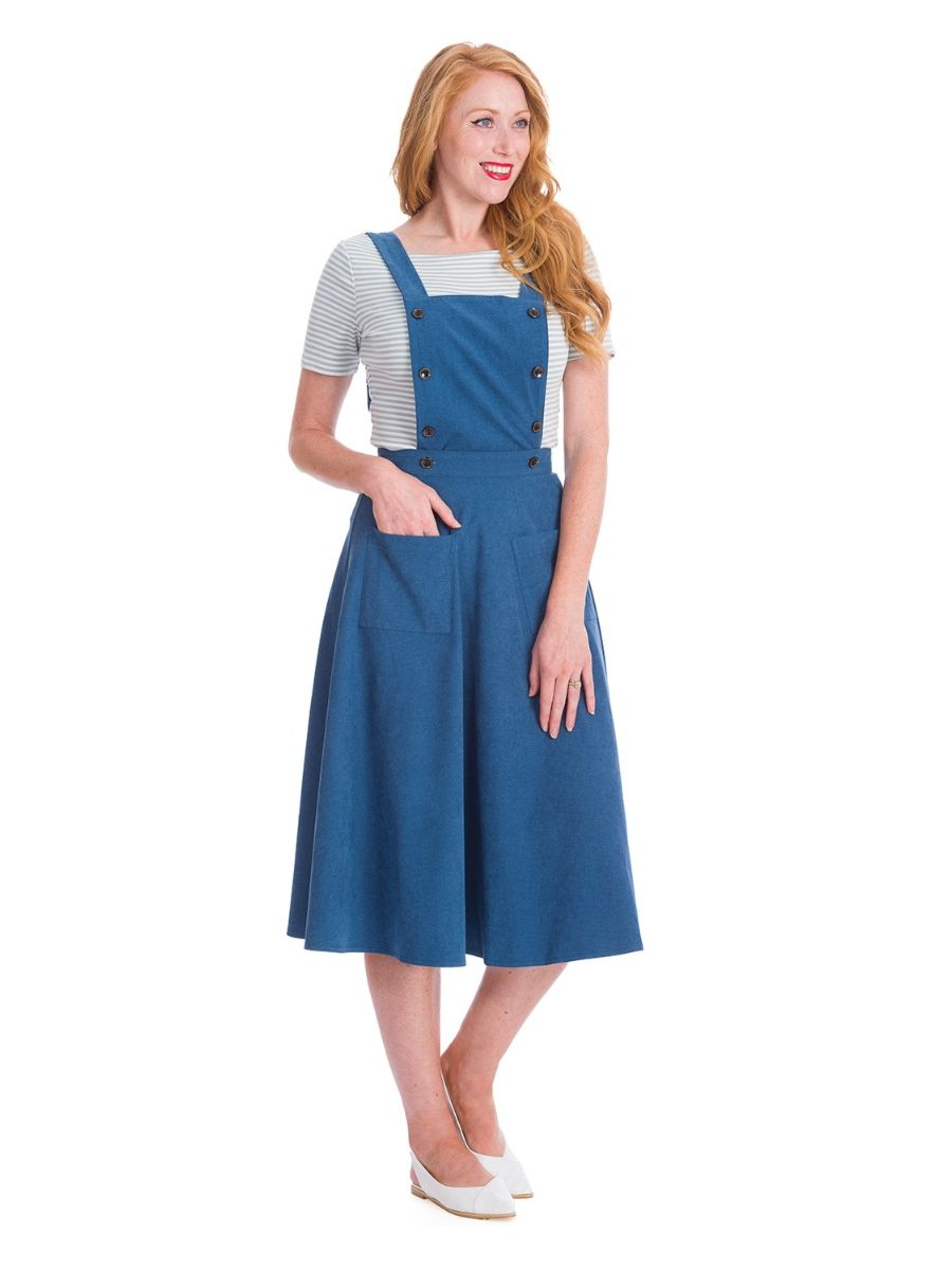 Banned Retro 1960's Book Smart Pinafore Adele Dress