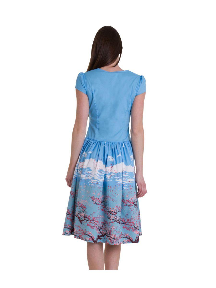 ORIENTAL BLOSSOM BODICE DRESS