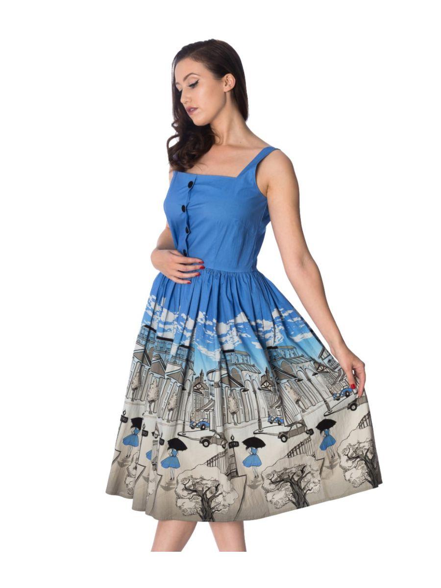 PARIS BUTTON THRU DRESS