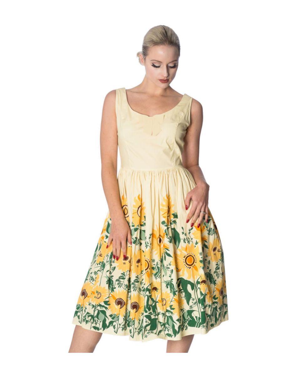 SUNFLOWER RETRO DRESS
