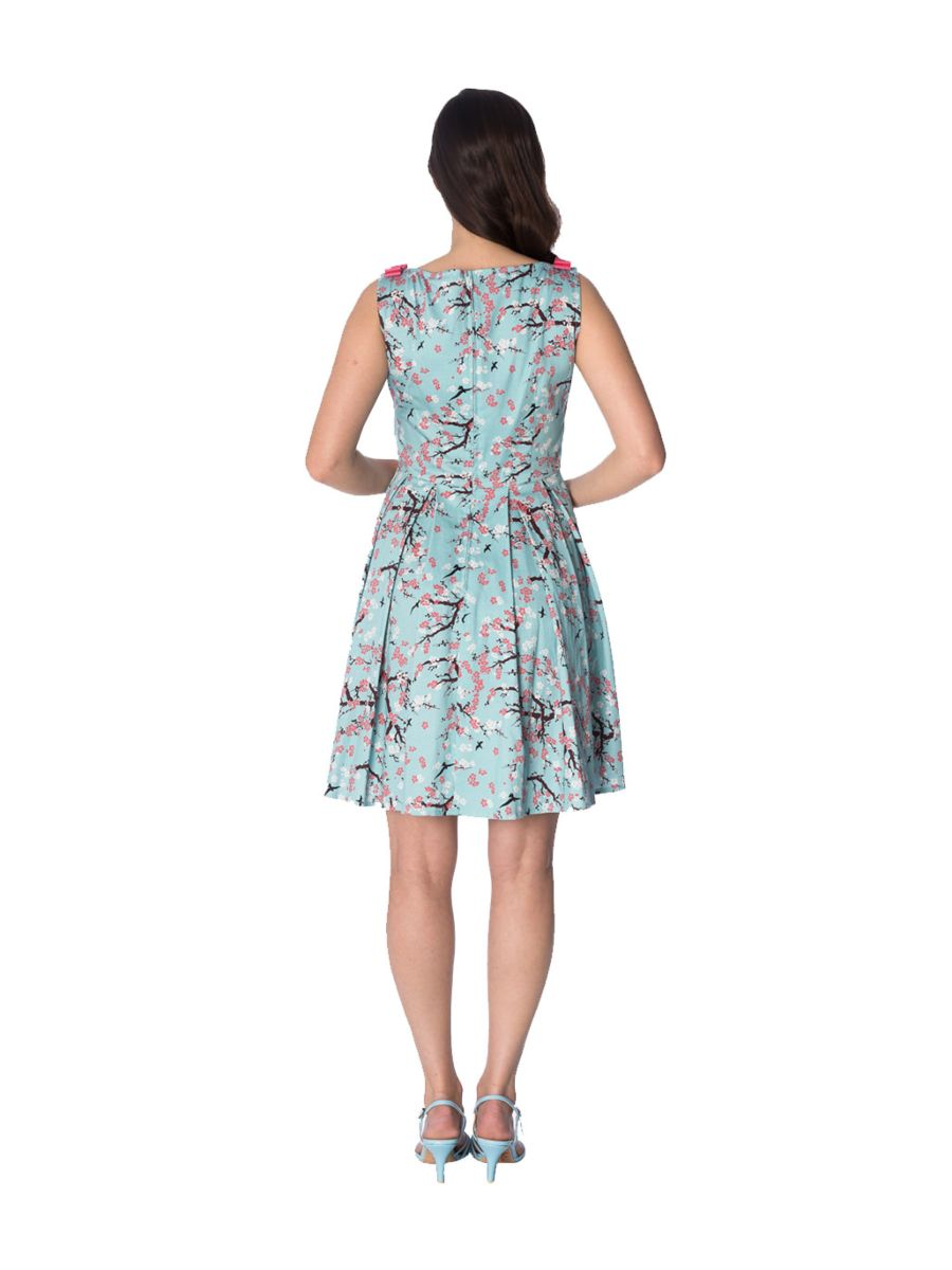 ORIENTAL BLOSSOM BOW DRESS