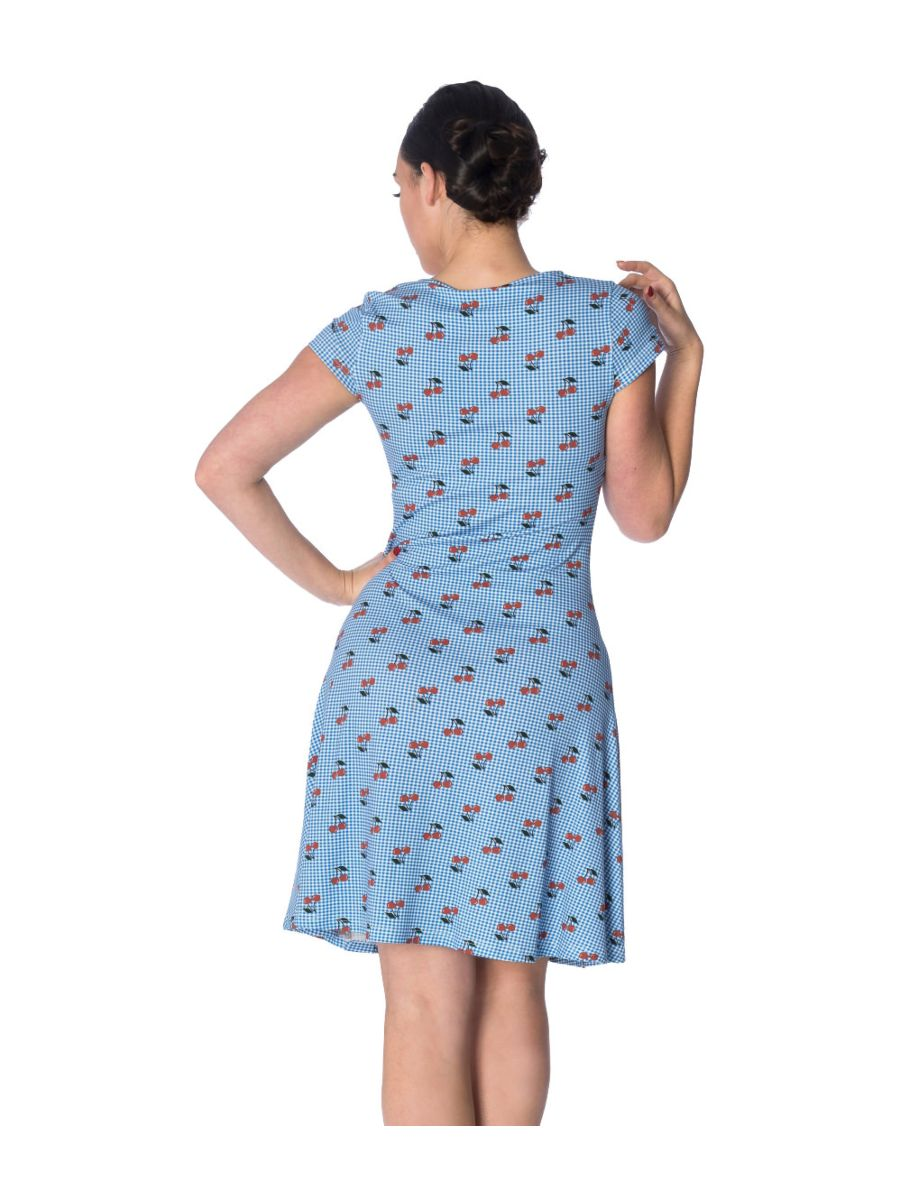 CHERRY LOVE WRAP OVER DRESS