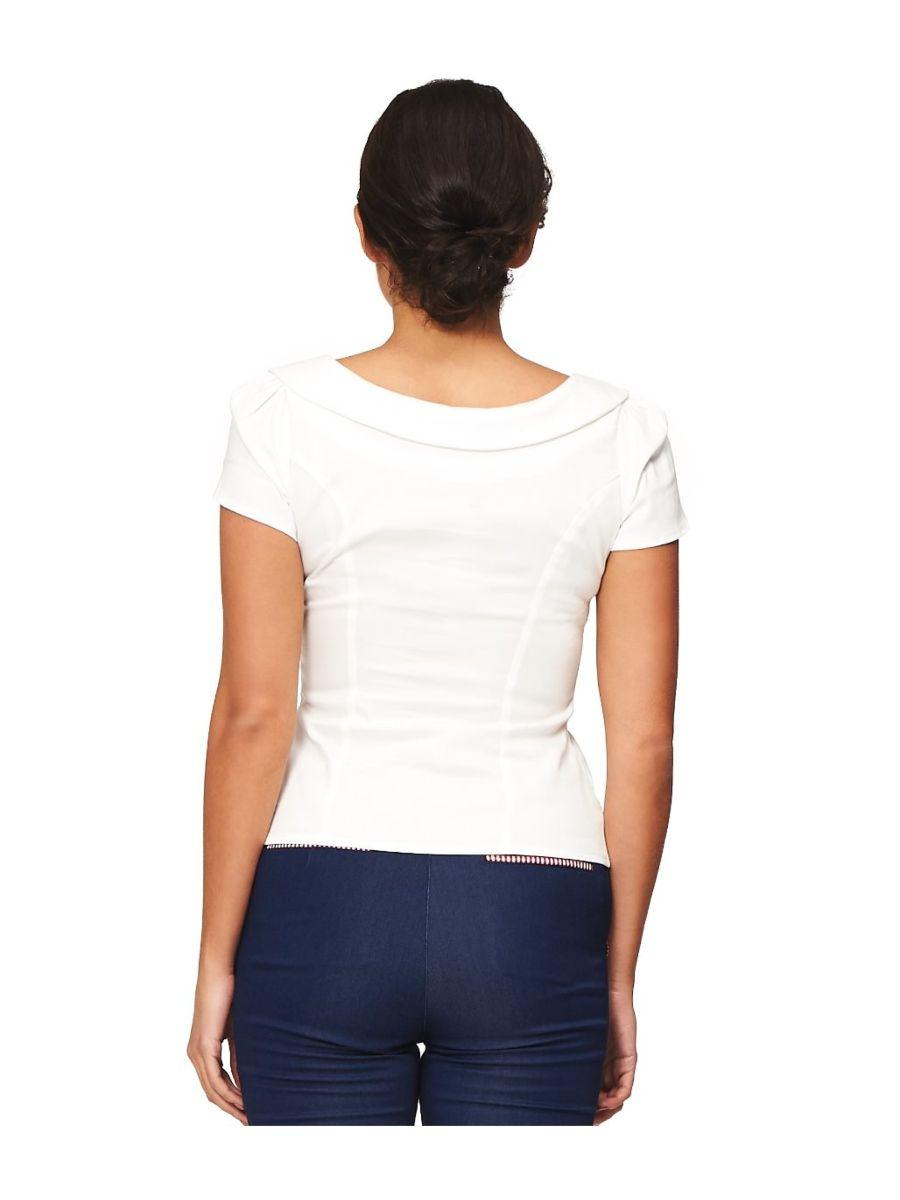 Banned Retro 1940's Retro Style Blouse White