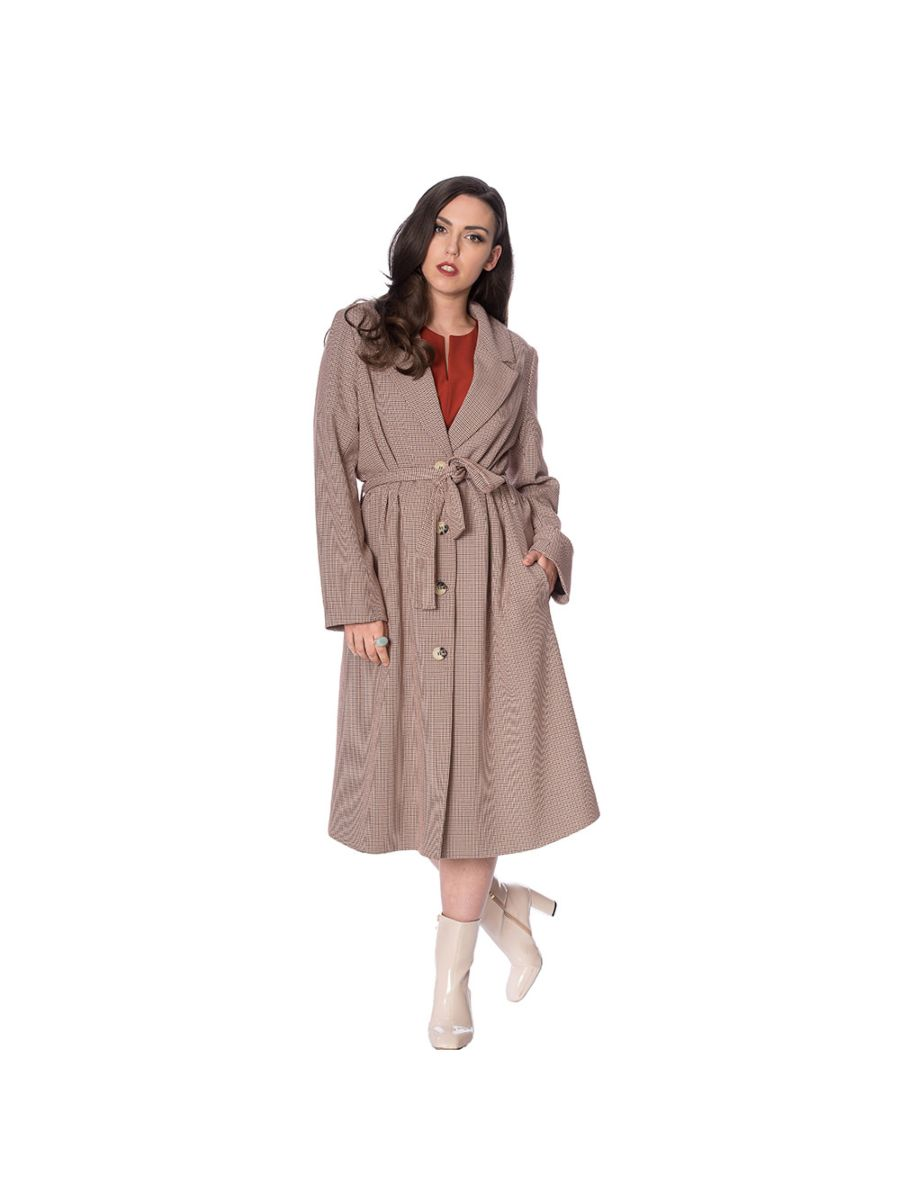 QUEEN BETTY CHECK PARKA COAT