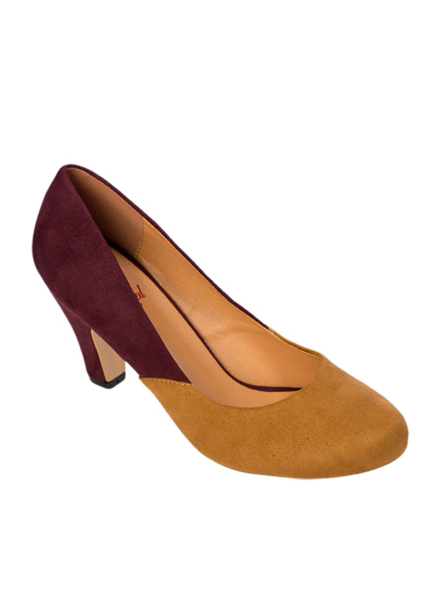 THE MODERNIST TWO TONE SUEDE PUMPS
