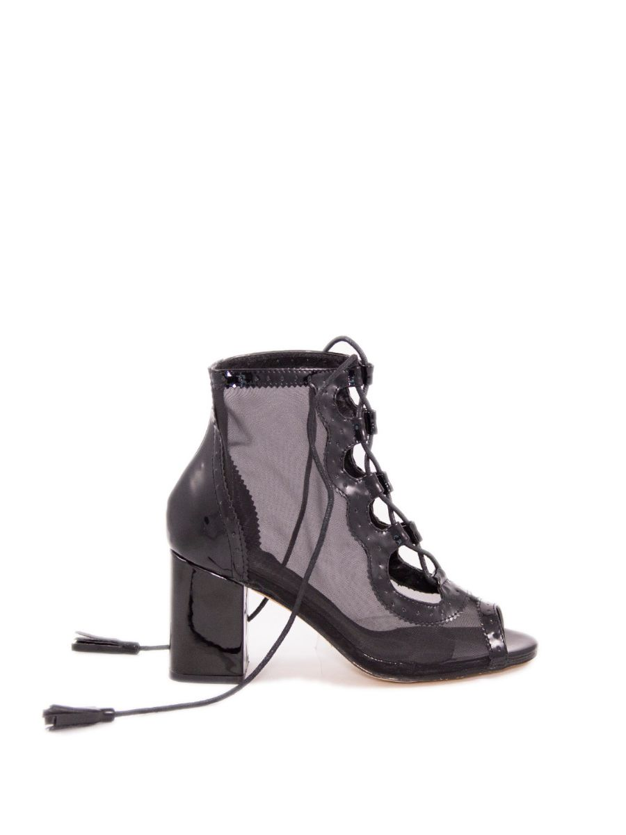 CHANTED PEEP TOE LACE UP BOOT