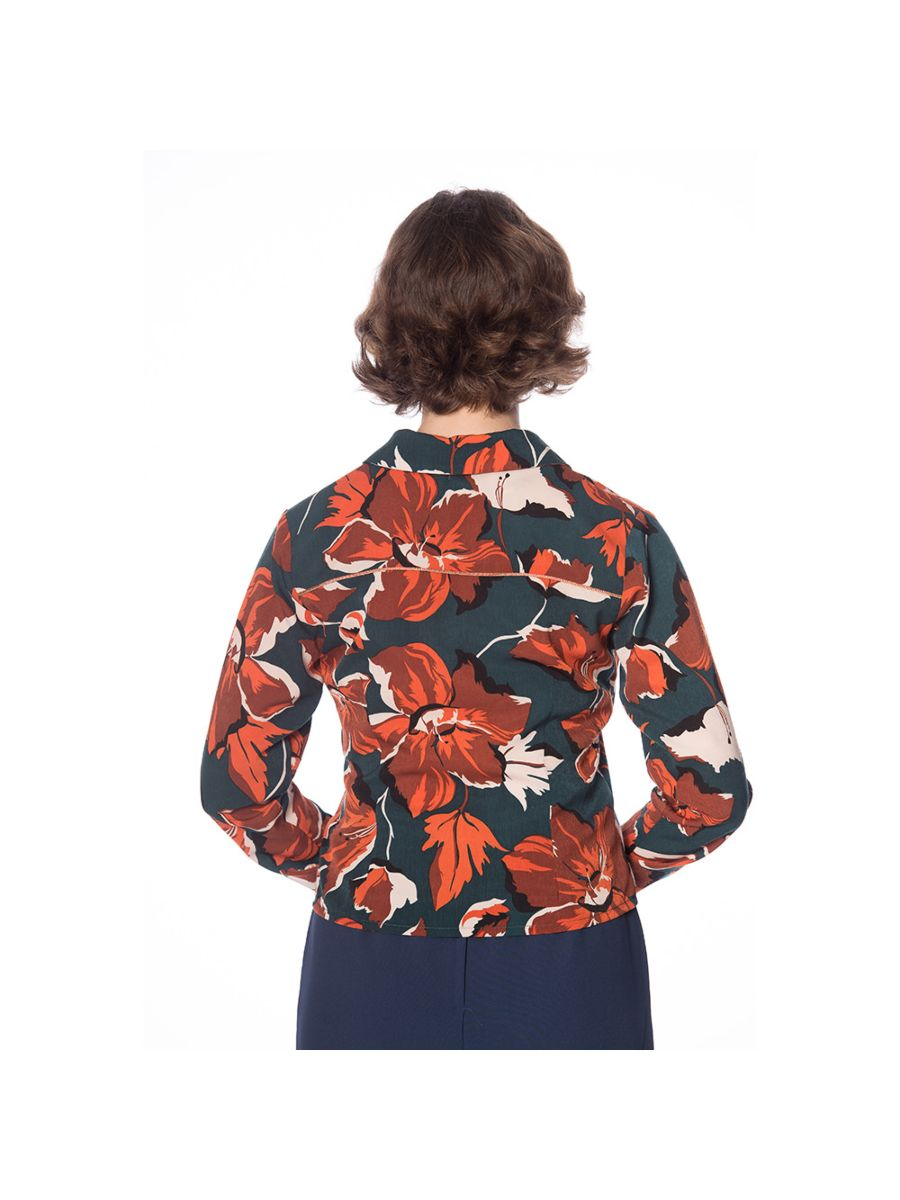 THE WORK TO COCKTAILS FLORAL SHIRT