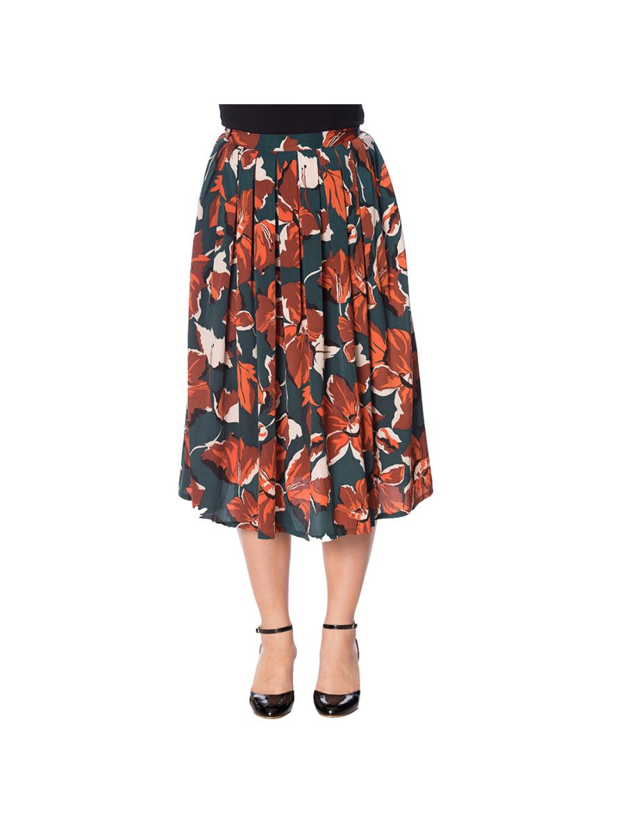 DREAMY DAYS PLEAT FLORAL SKIRT