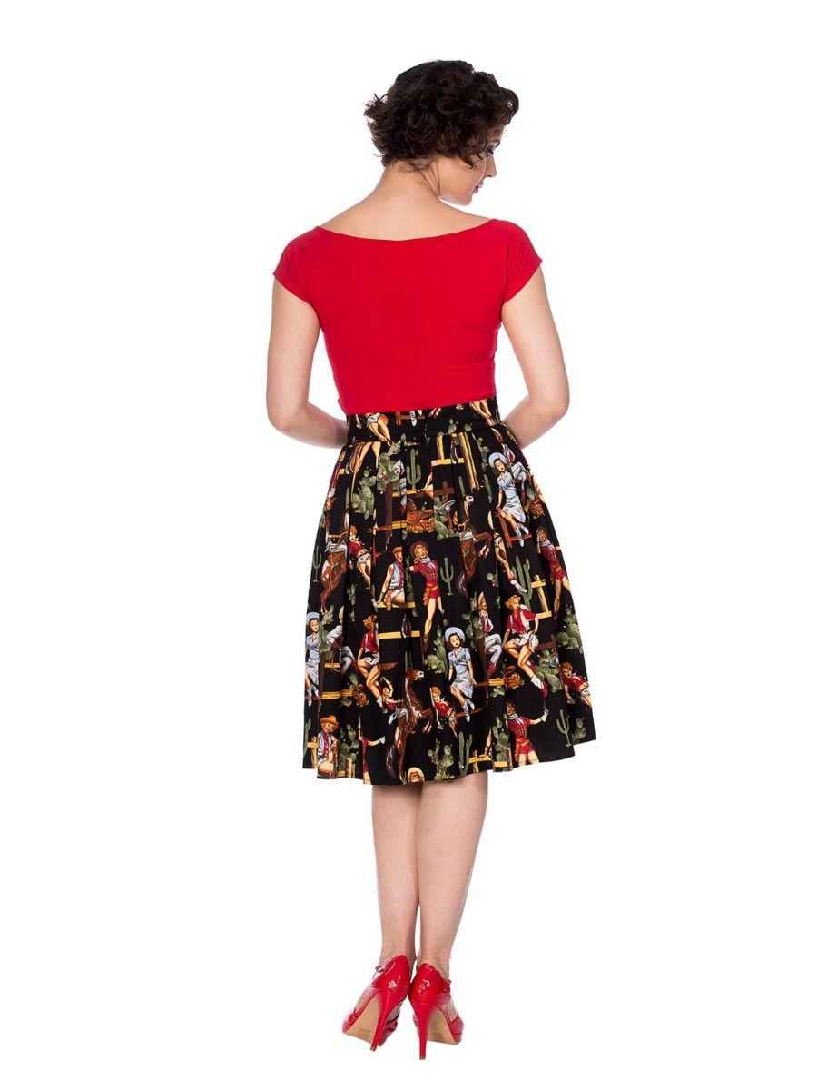 COWGIRL PLEATED SKIRT