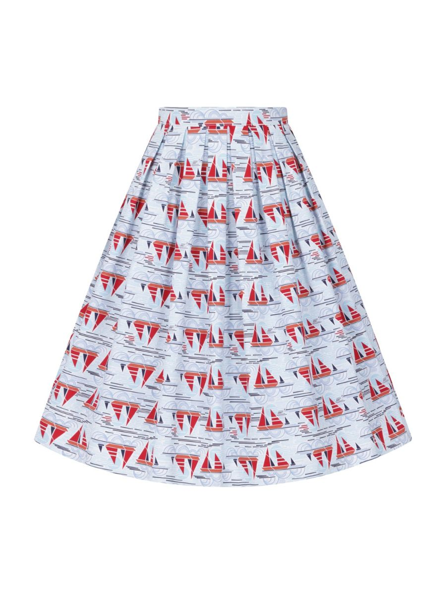 SAIL AWAY PLEAT SKIRT