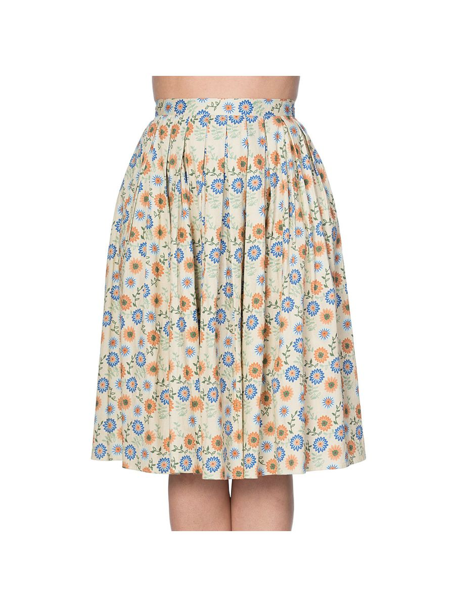 FLOWER POWER PLEAT SKIRT