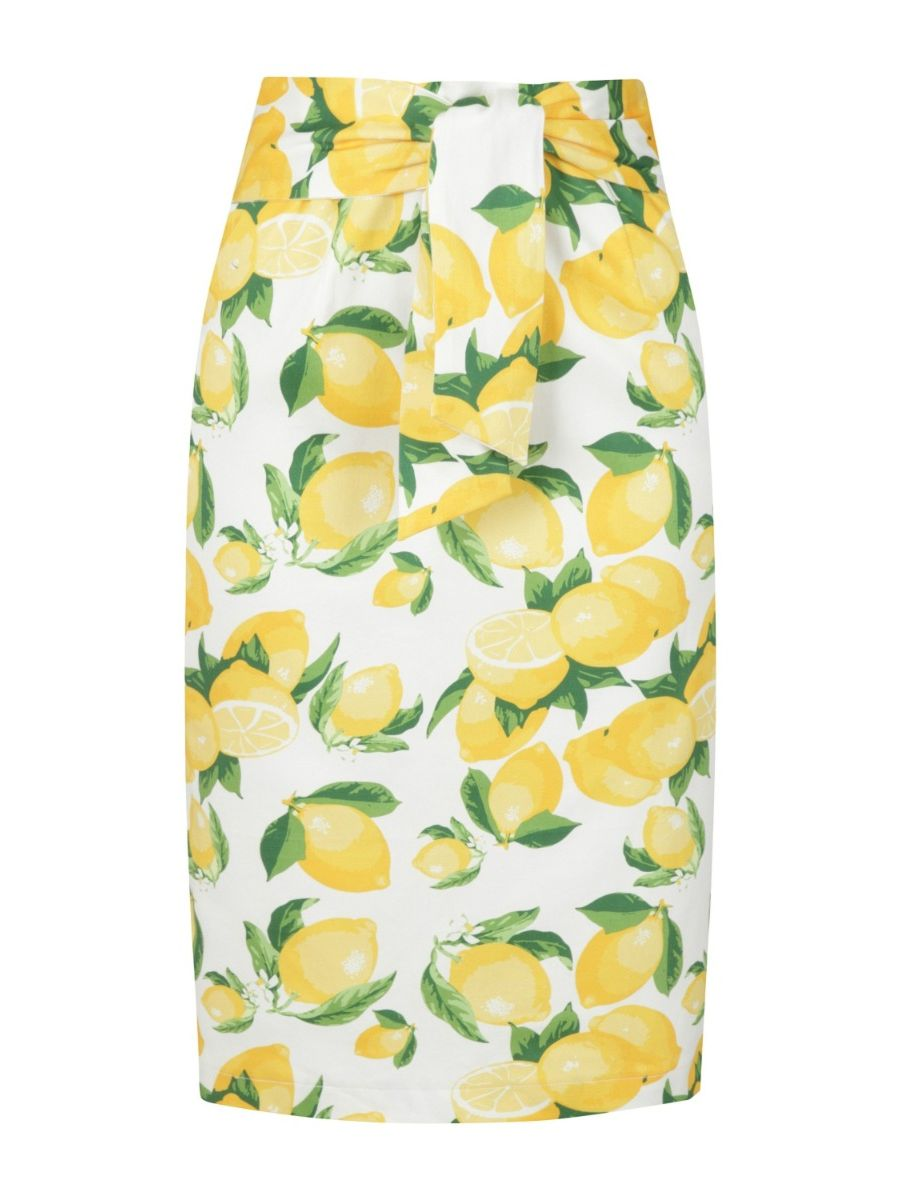 LEMON PENCIL SKIRT