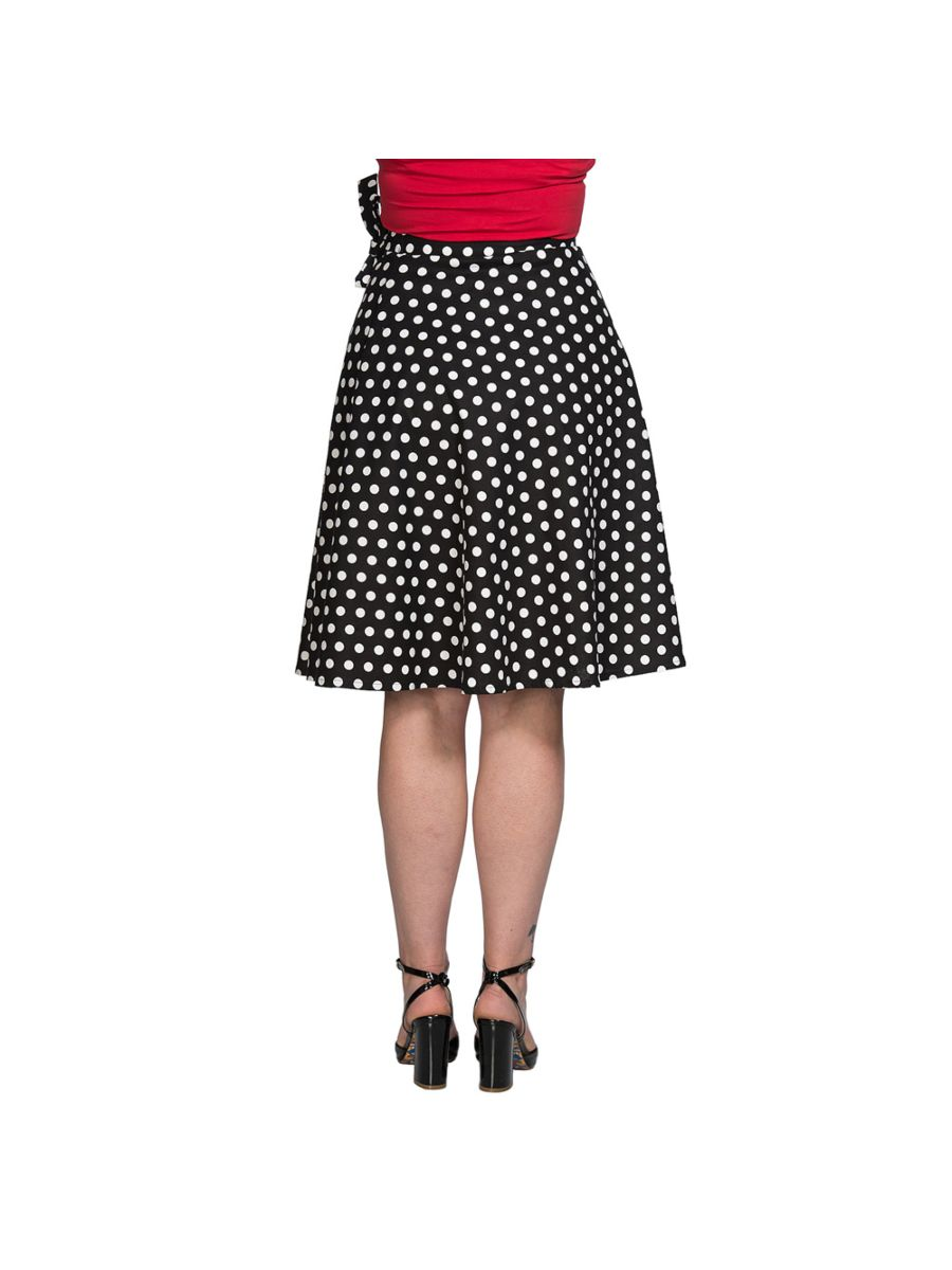 POLKA MIX WRAP SKIRT