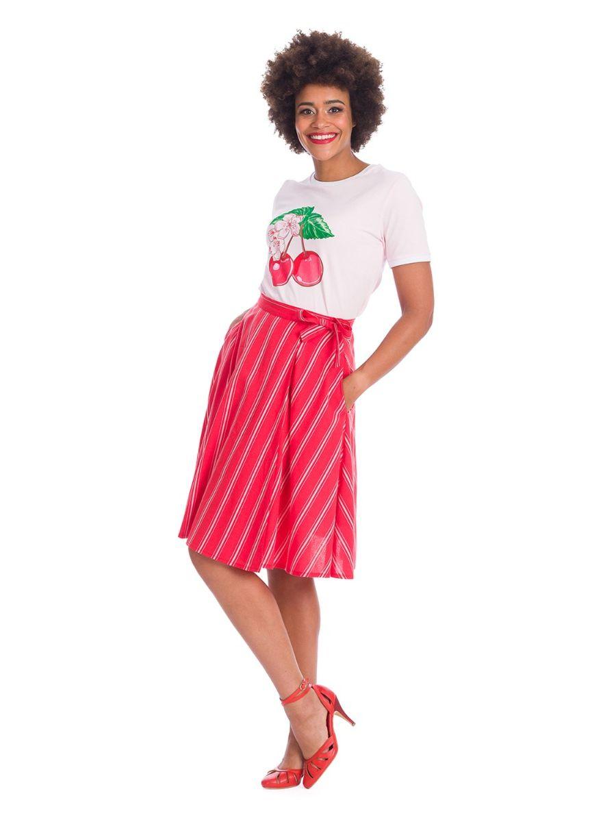 Banned Retro 1970's Merry Cherry Dreams Didi Blush T-Shirt