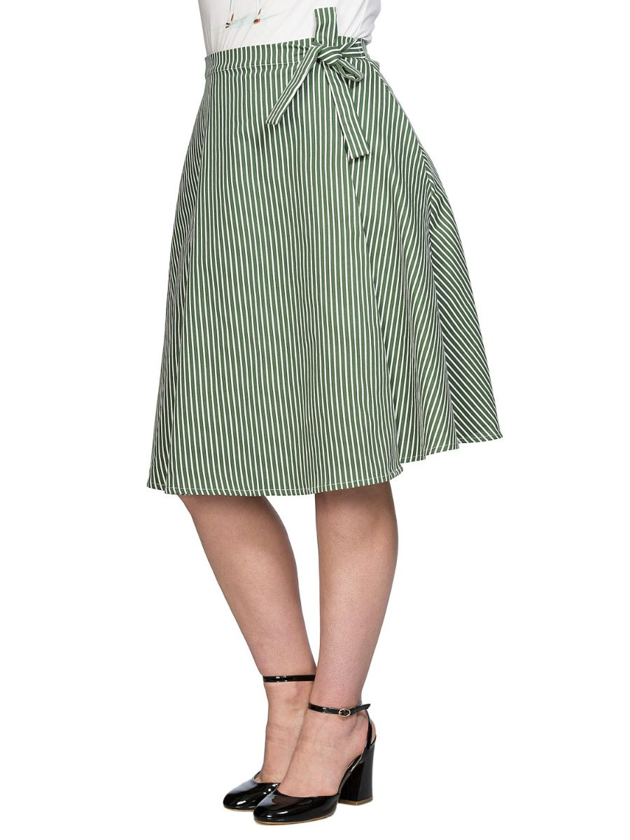 STRIPE AND RIPE WRAP SKIRT