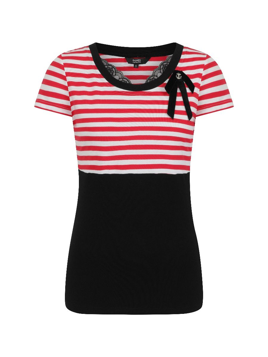Banned Retro 1960's Candy Stripe Top