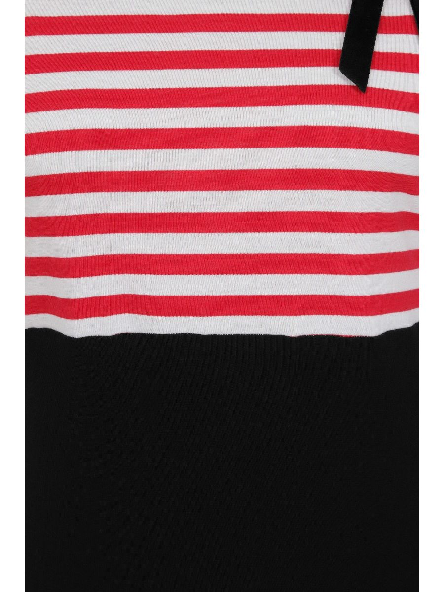 Banned Retro 1960's Candy Stripe Top Red