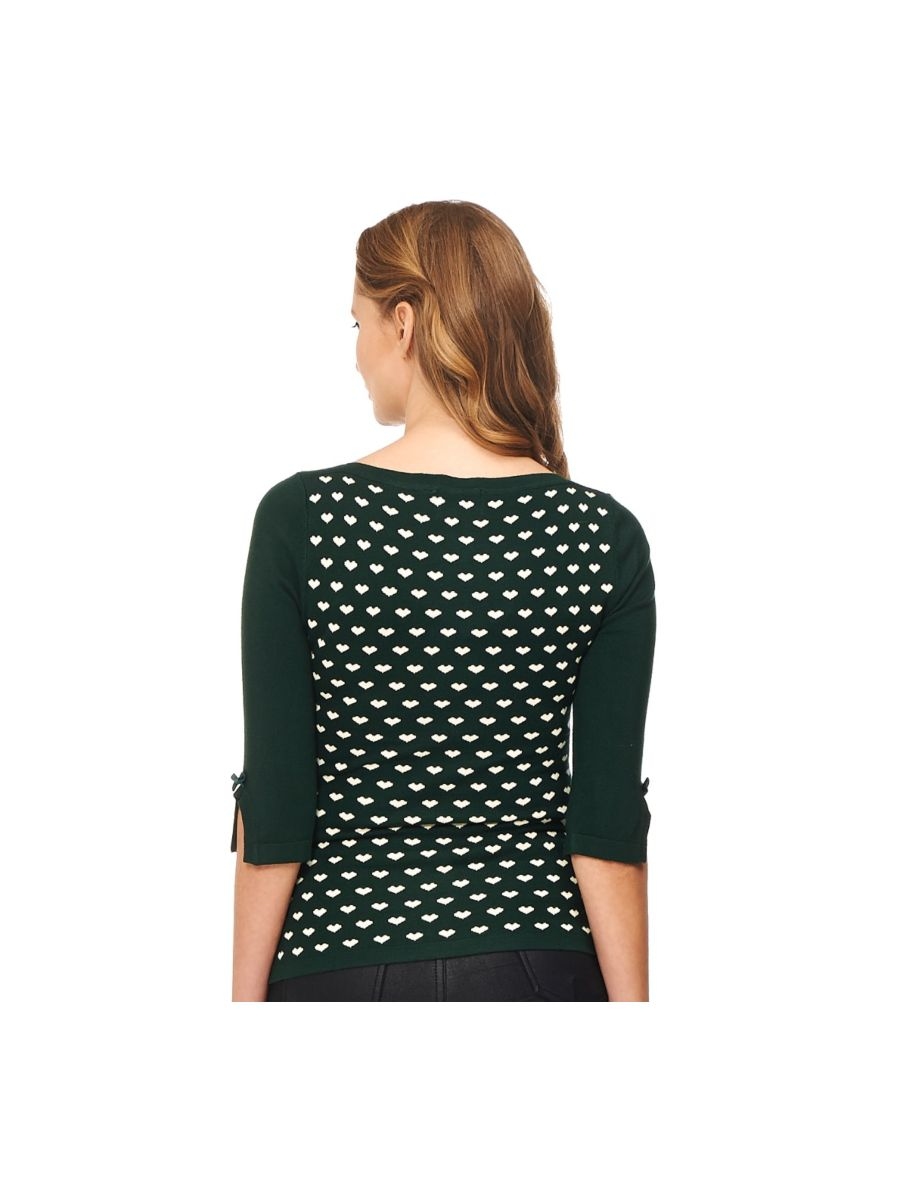 CHARMING HEART KNIT TOP