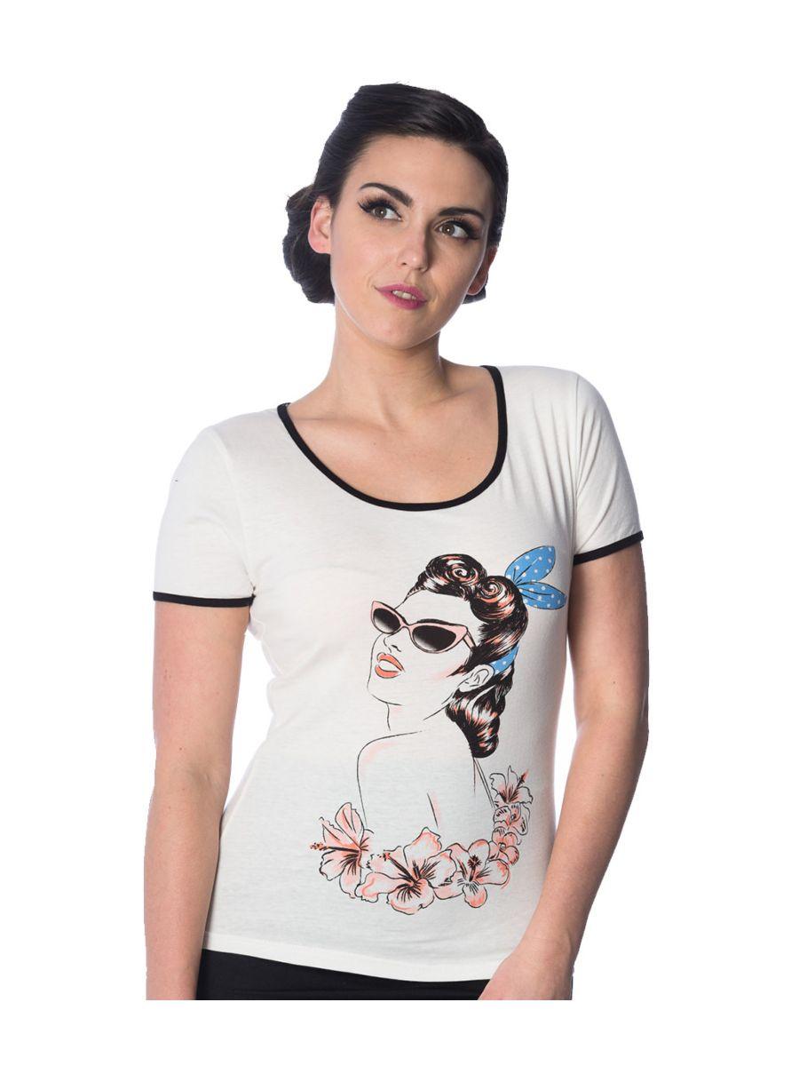 Banned Retro 1950's Model Retro Didi Crew Neck Vintage T-Shirt