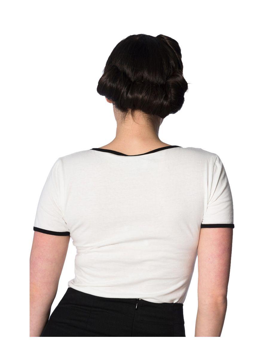 Banned Retro 1950's Summer Days Vintage T-Shirt Off White