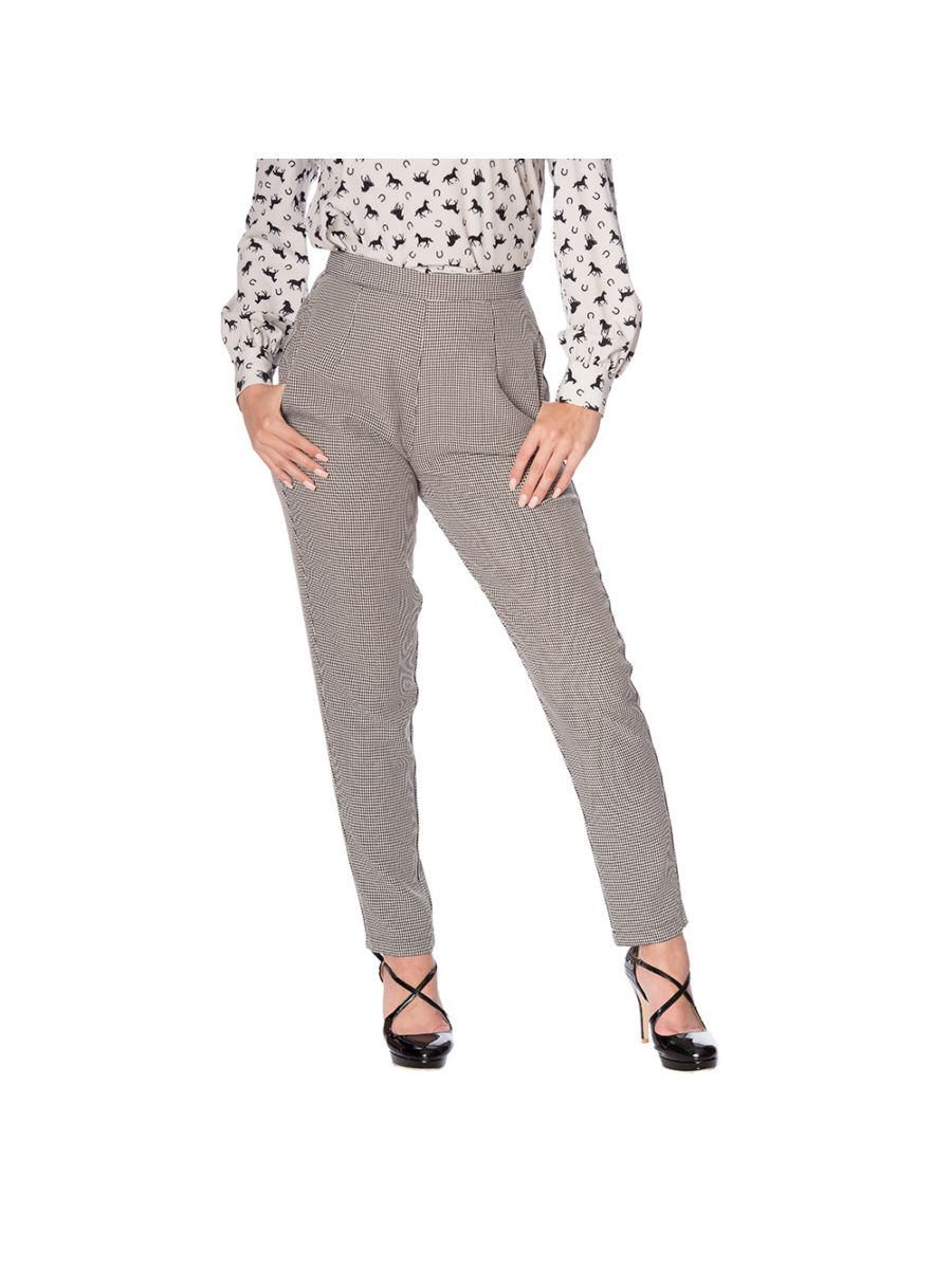 BETTY HOUNDSTOOTH TROUSER