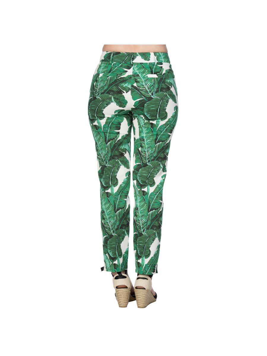 TROPICAL LEAVES TROUSER