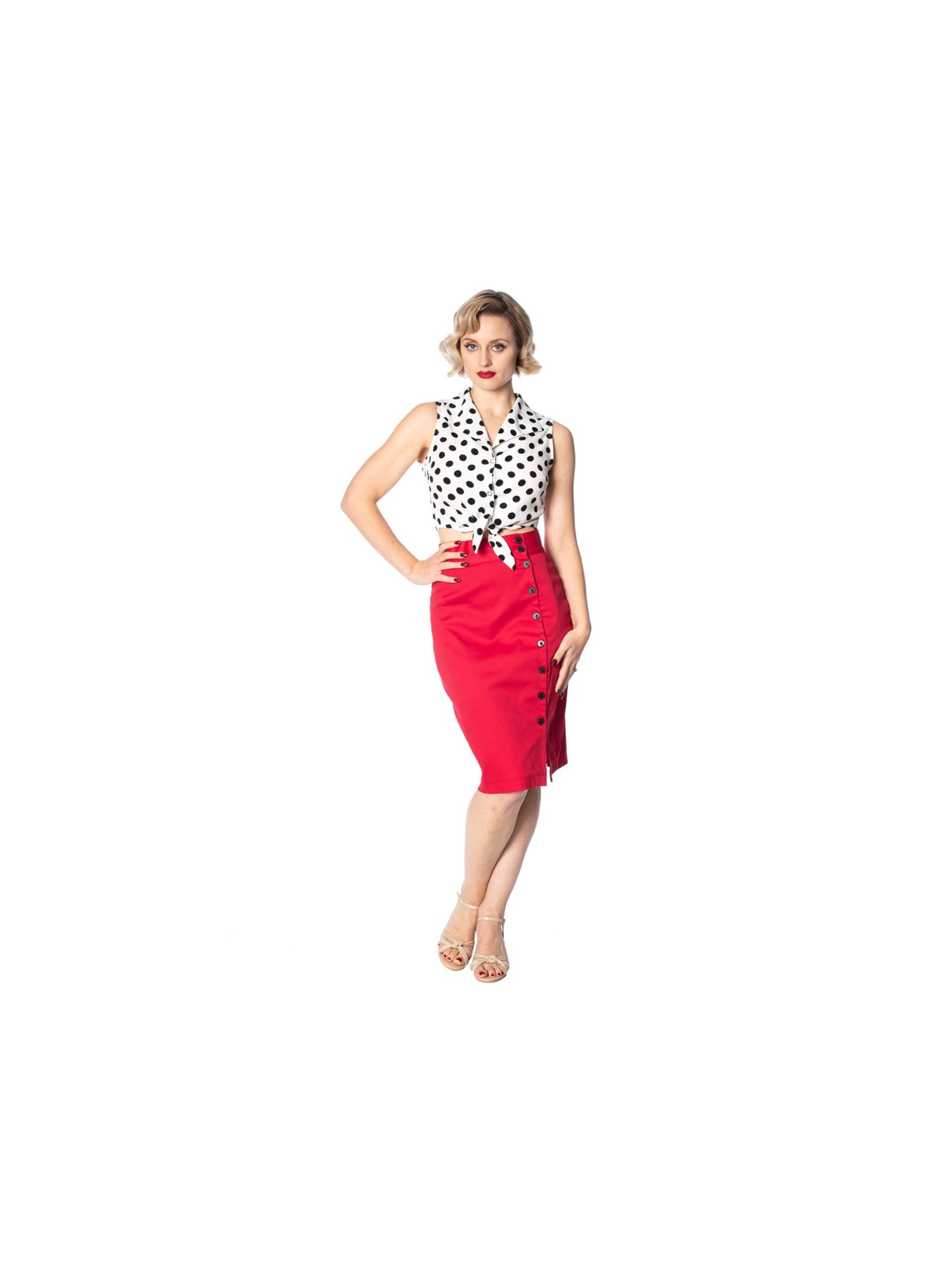 Vintage casual polkadot bra crop top with bow in the back